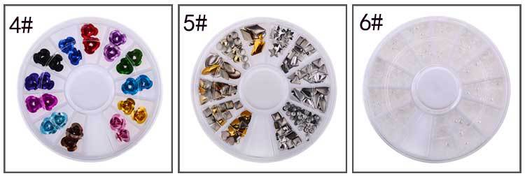 DIY Nail Art Wheel Tips Crystal Glitter Rhinestone 3D Nail Art Decoration