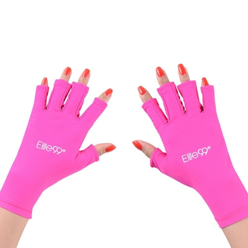 1 Pair UV Protection Nail Art Gel Anti UV Glove