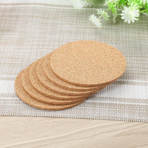 6pcs/lot Natural Cork Coaster Heat Resistant Cup Mug Mat