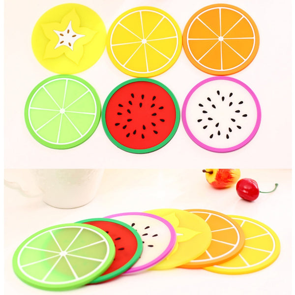 Hot Coaster Fruit Shape Silicone Cup Pad Slip