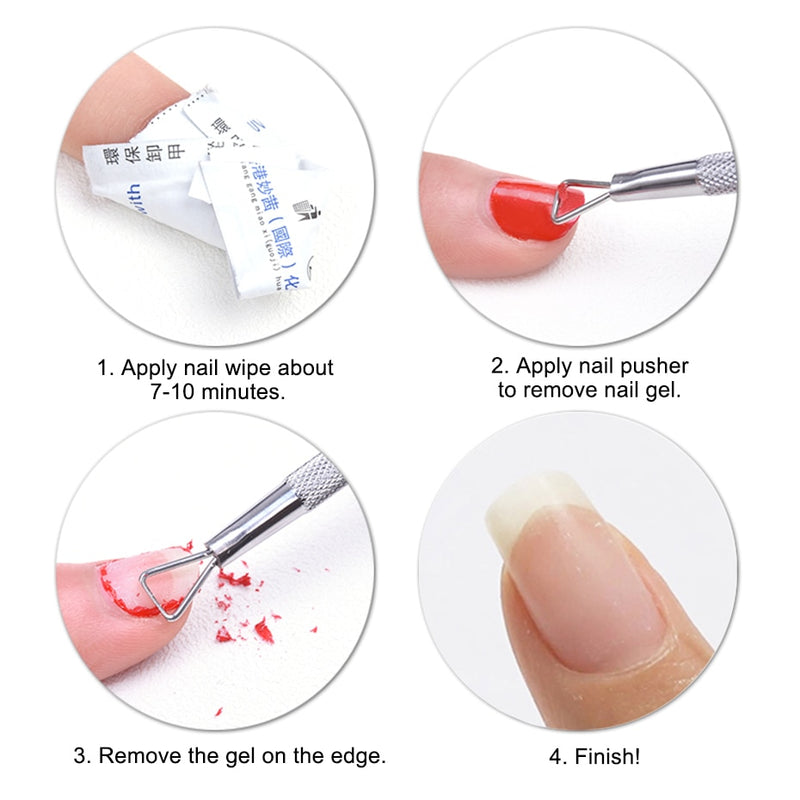 UV Gel Polish Remover Culticle Pusher Stainless Steel Dead Skin Remover