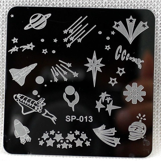 Cartoon Equipment Nails Stamping Plates Manicure Template
