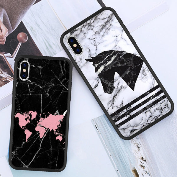 Fashion New Marble Horse Lovely Animal Peanut Nutella PC Cover Cases For iPhone