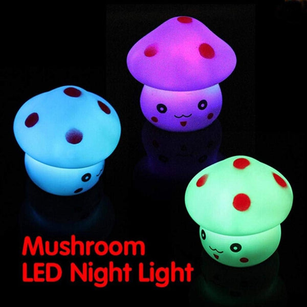 Romantic Colorful Mushroom LED Night Light Lamp