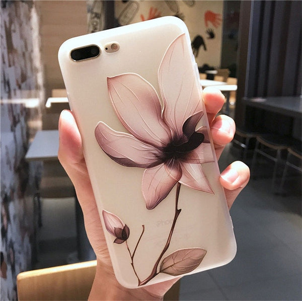 Lotus Flower Case For iPhone TPU Cover