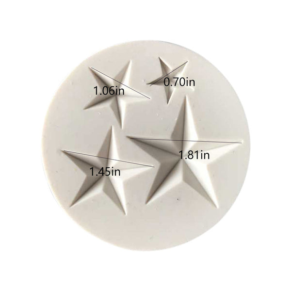 Hot Sale Five-pointed Star Fondant Cake Silicone Mold