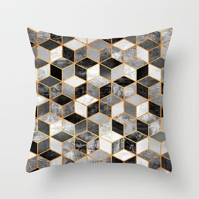 Colorful Geometry Pattern Cushion Covers Pillow Case For Sofa 45x45cm