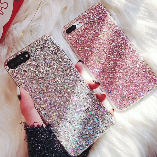 Silicone Bling Glitter Crystal Sequins Phone Case for Huawei Smart P20 Pro P10 Nova 2 2S 2i Honor 8 9 10 Cases