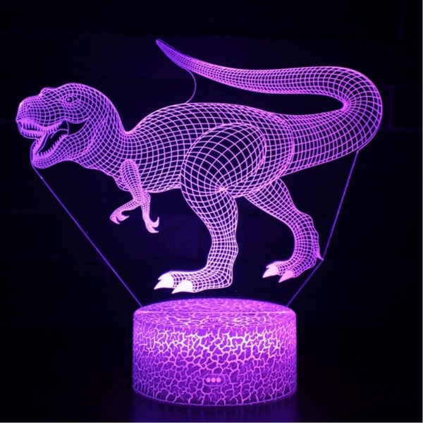 Dinosaur theme mark 3D Lamp Game LED night light 7 Color Change