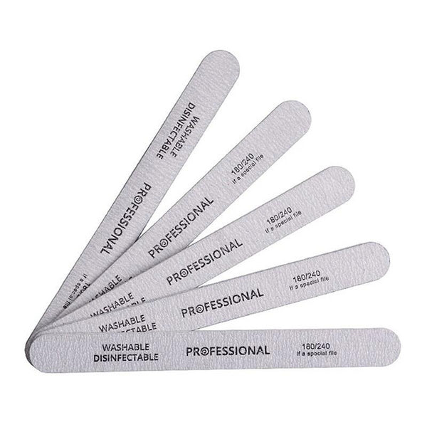 10pcs/lot Sandpaper Nail File for gel nails 180/240 Professional Manicure Buffer Double-sided Nail Tools