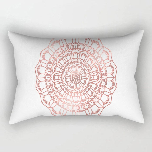 30x50cm Cushion Covers Rose Gold Pink Geometric Back Cushion Covers
