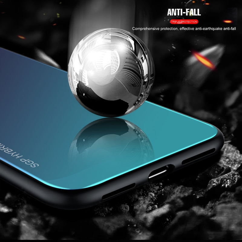 Gradient Tempered Glass Case For Xiaomi Mi 8 Lite Mi A2 Lite 9 A1 Mix 2 s 6 8 se Redmi Note 7 6 Pro Case Cover