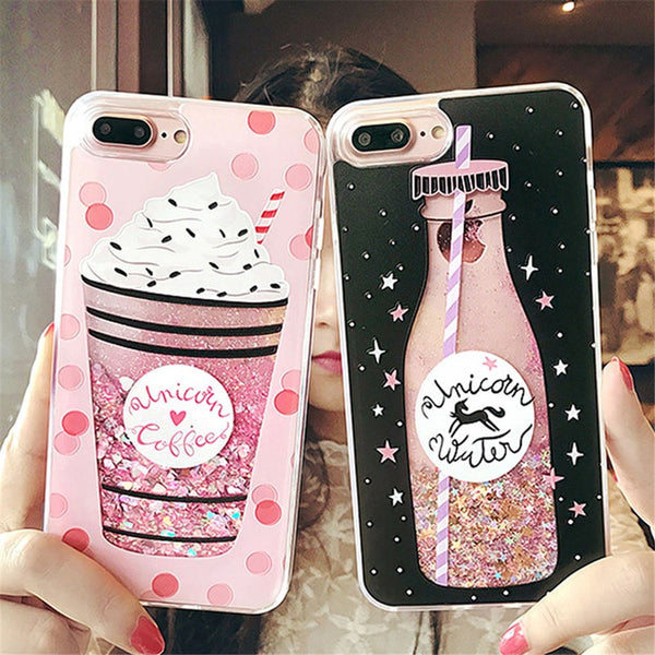 Quicksand Case For iPhone X 7 8 Flamingo Phone Cases For iPhone 6 6s Plus XR XS