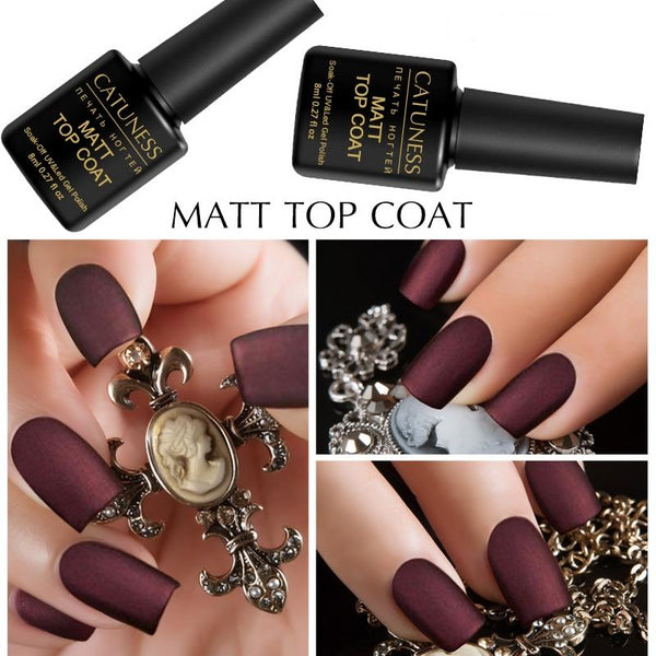8 Ml Matte Top Coat Lucky Color Semi Permanent Gel Lacquer UV LED Lamp Long Lasting Soak Off Gel Nails Polish