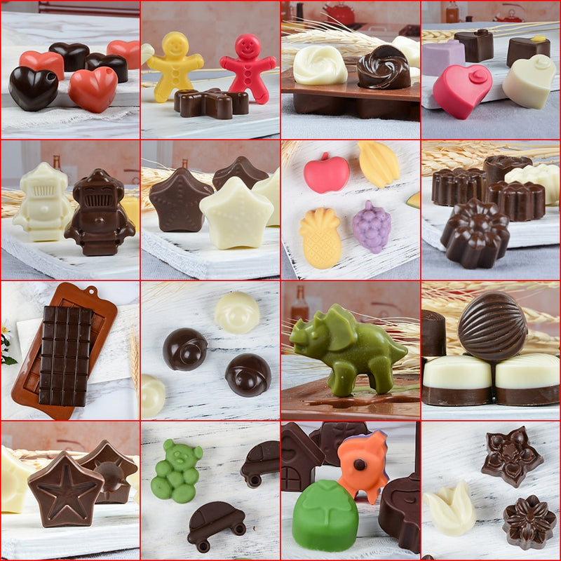 New Silicone Chocolate Mold 24Shapes Chocolate Baking Tools