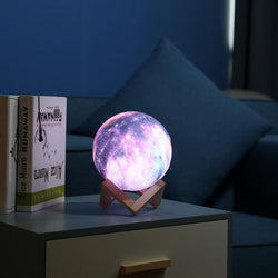 16 Colors 3D Print Star Moon Lamp Colorful Change Touch Usb Night Light