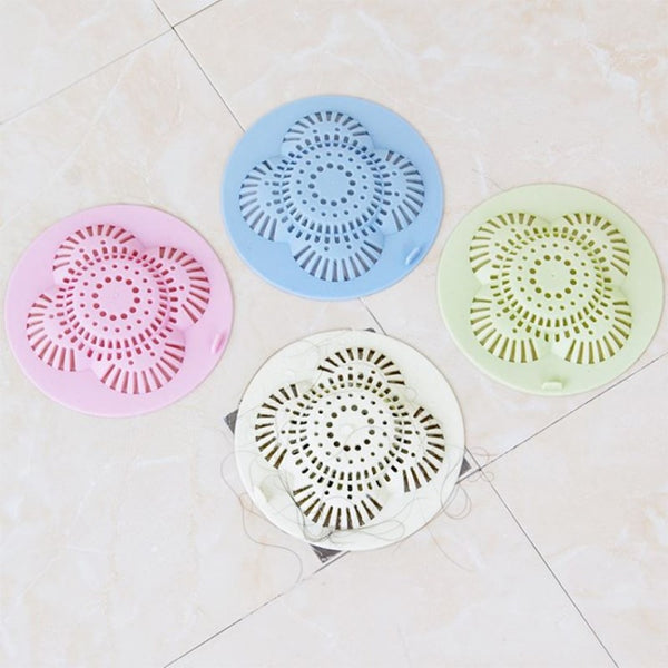 [1~7PCS] Star Sewer Outfall Strainer Bathroom Sink Filter Anti-blocking Floor Drain Hair Stopper Catcher Kitchen Accessories