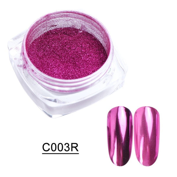 1box Rose Gold Mirror Powder Nail Glitter Pearl Powder