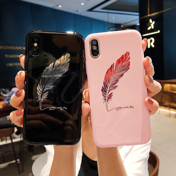 Crown King Queen Moon Stars Feather Case on For Huawei