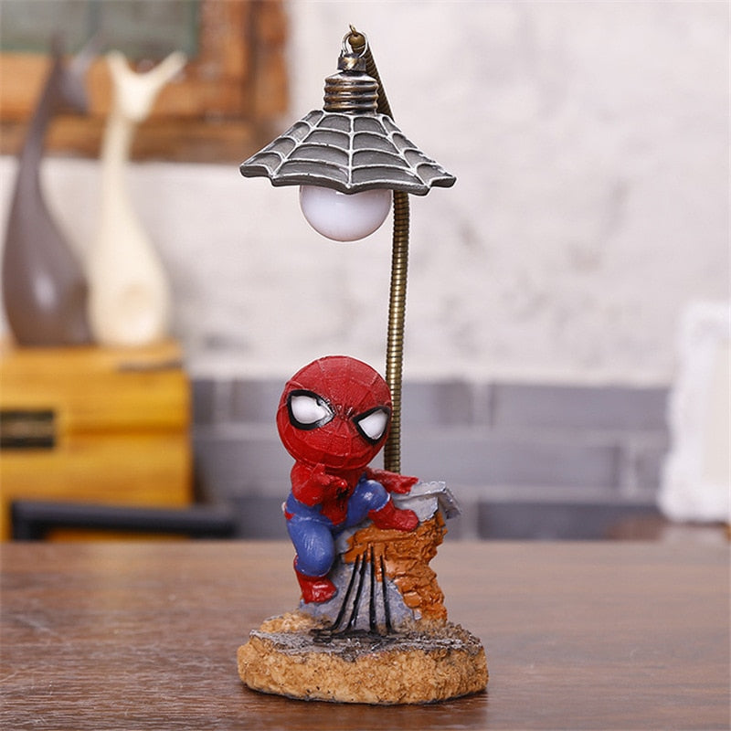 Cartoon Avengers Action Figures Spider Man Night Lamp