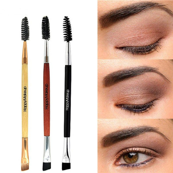 Wood Handle Eyebrow Brush Eyebrow Comb Double Ended Brushes