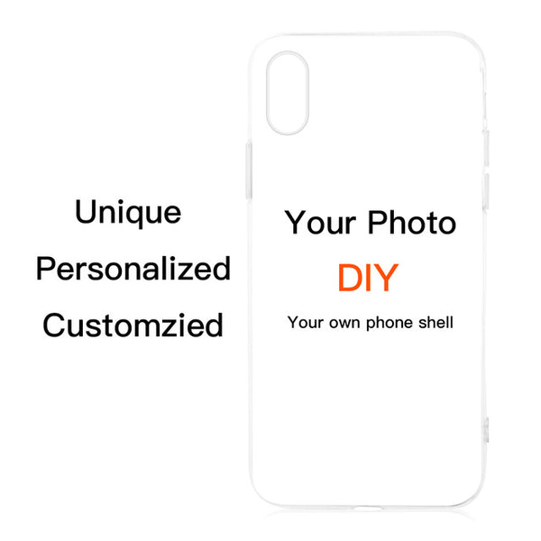 Customized DIY Phone Case Printed Soft TPU Clear Cover Case For iphone, Samsung S7 S7 Edge S8 S9