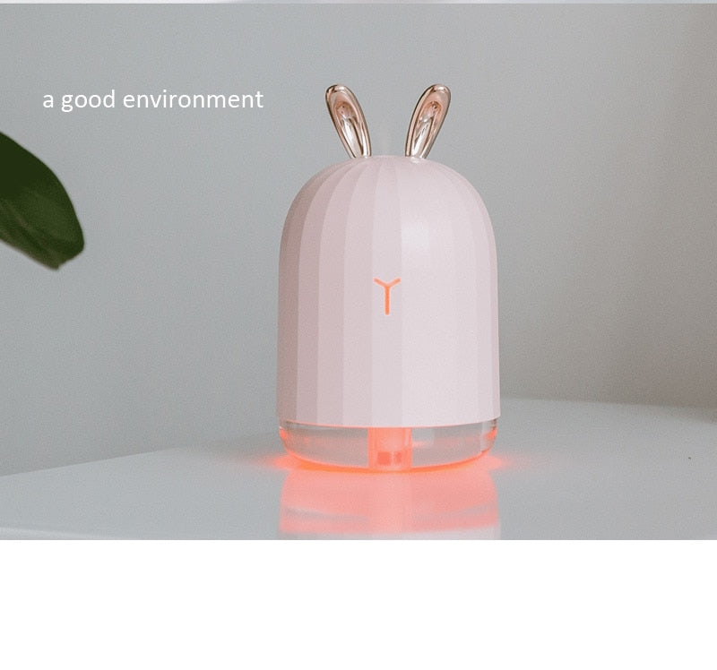 7 Color Change LED Night Light with 220ml USB Aroma Essential Oil Diffuser