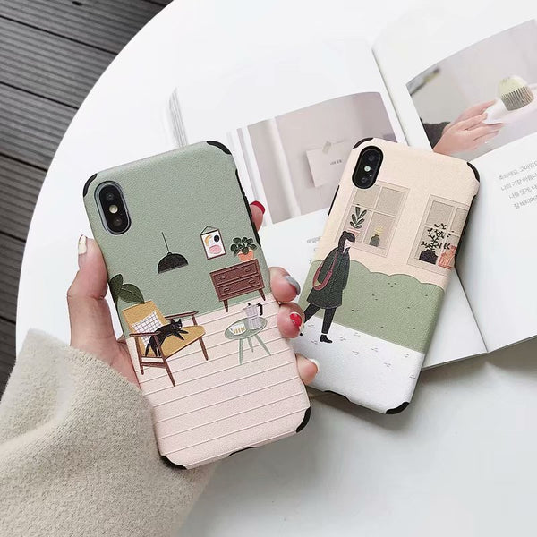 Fresh Aesthetic Couple Sisters Phone Case For Xiaomi