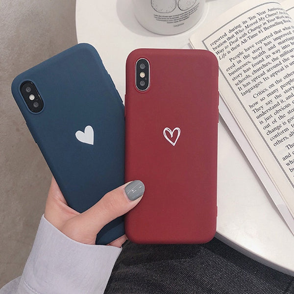 For Honor 8X Case Love Heart Print Back Cover For Huawei Honor Play 9 8 Lite 10 enjoy 8 Plus 7S