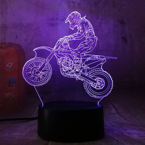 3D Extremity Motorcycle LED Cool Boy Gift Night Light LED