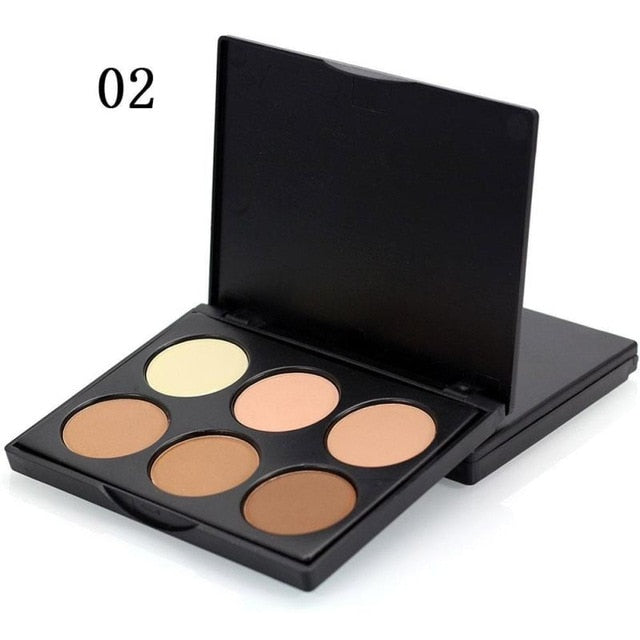 Face Highlighter Powder Palette Corrector Contouring Highlighter Bronzer Makeup Powder