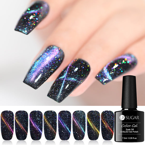 7.5ml Holographic 3D Cat Eye Gel Polish Magnetic Gel