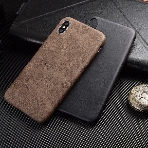 PU Leather Crocodile Skin Soft Back Cover For iphone