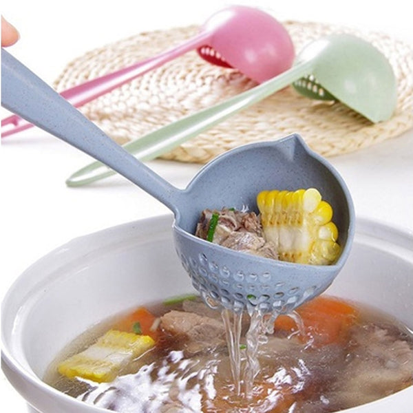 Hot Selling 2 in 1 Long Handle Soup Spoon