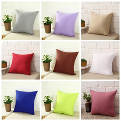 Hot Solid Hot Pillowcase Simple Plain Decorative Cushion Cover