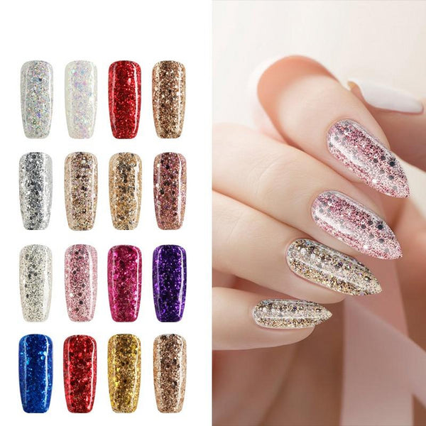 Hybrid Varnishes Soak Off Gel UV Gel lak Nail Polish Set Top Base Coat For Manicure Gel Glitter Semi Permanent