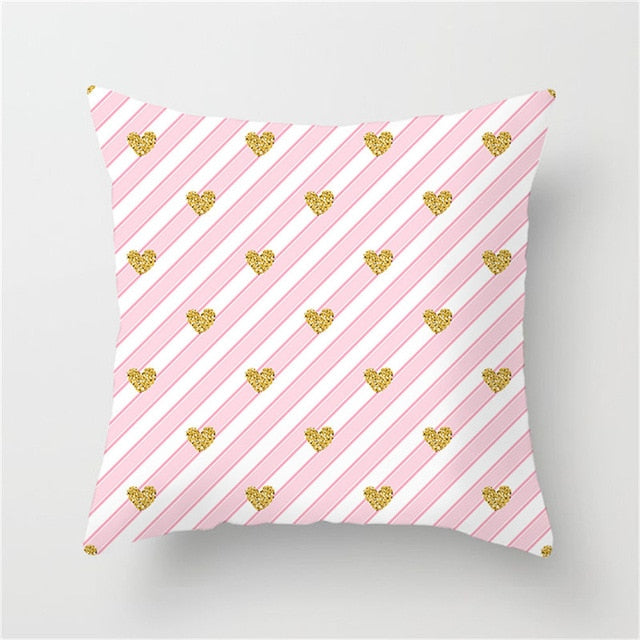 Geometric Cushion Cover Heart Star Diamond Printed Pillow Cover 45 * 45 cm