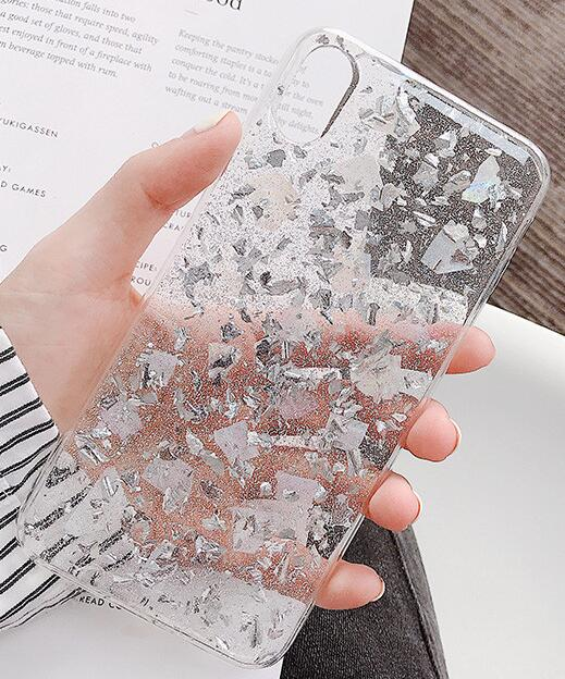 Pink Sequins Crystal Soft Tpu Phone Case for Iphone