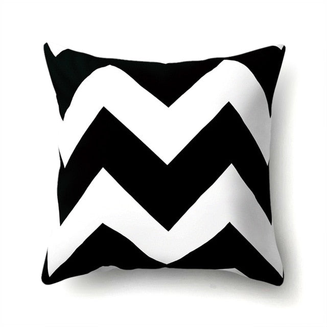 Letter Geometric Pattern Cushion Cover 45*45 CM