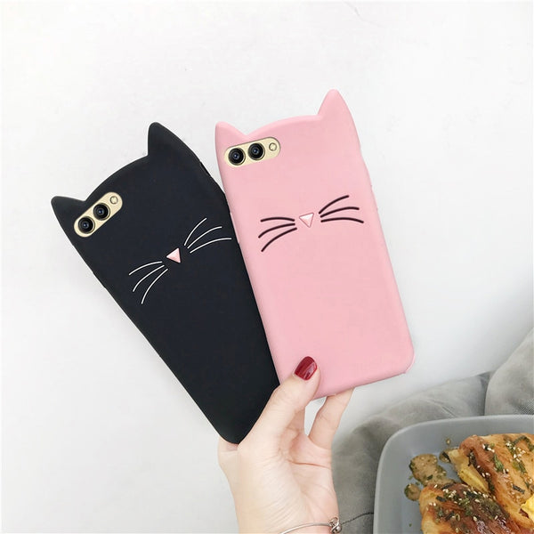Huawei Cute Silicone Cases For Huawei Mate 20 10 Lite Pro Mate X Case ForP20 Pro Lite Honor 8X 7X 6X 10 8 9 9i Case