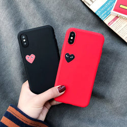 For Samsung Funny Love Heart Cover For Samsung Galaxy A3 A5 A7 2016 2017 A9 A6 A8 Plus 2018 A8S Case