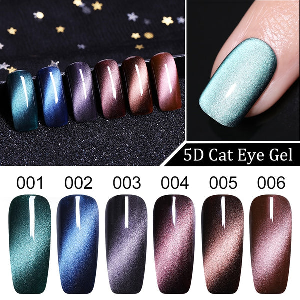 5ml Magnetic 5D Cat Eye's Gel Nail Polish Starry Sky Jade Effect Soak Off UV Gel Varnish Manicure Nail Art Lacquer