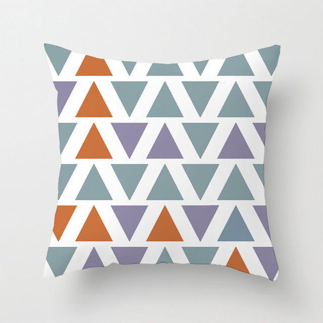 Geometric Pillowcase Office Waist Pad Cushion Cover 40cm*40cm 45cm*45cm
