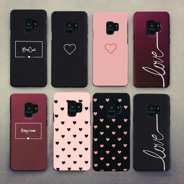 For Samsung  Cute Couples Love Heart Hard Case For Samsung Galaxy S8 S9 S10 Plus A50 Case
