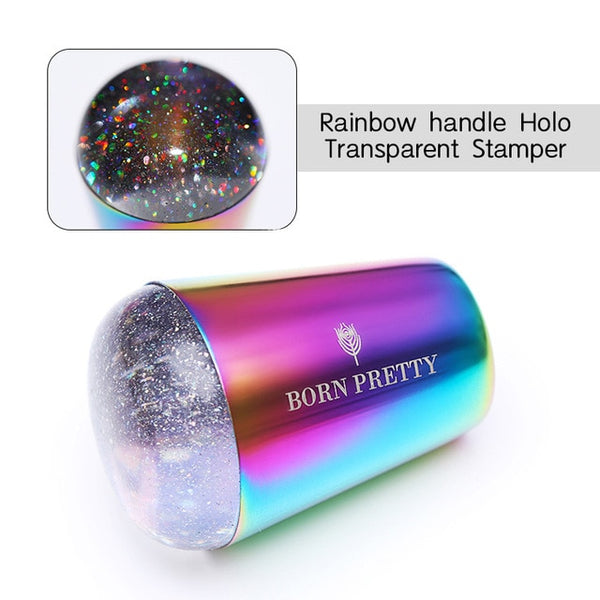 Holographic Transparent Nail Stamper for Stamping