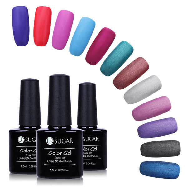7.5ml Matte Pure Nail Color Nail Polish Nail Art Nail Gel Polish UV&LED Soak-Off Gel Frosted Surface