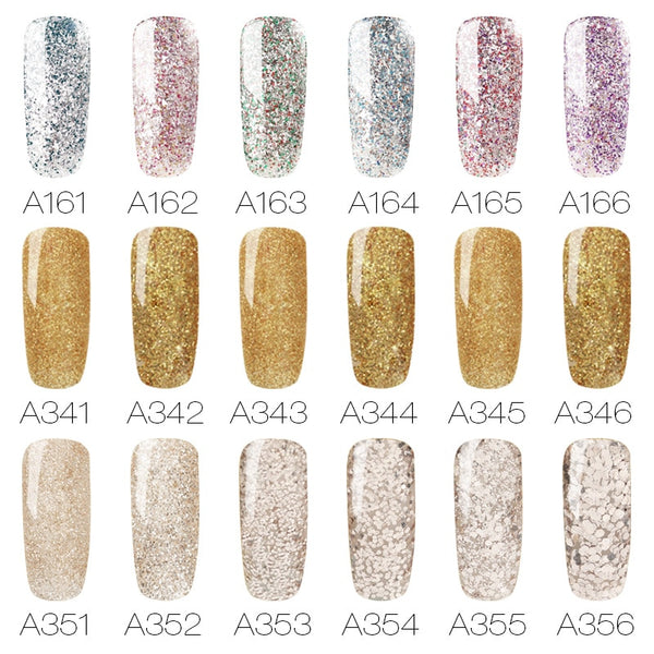 Gel Nail Polish UV Colors Semi Permanent Varnish 7ml Holographic Nail Art Manicure Polish Soak off Hybrid Gel