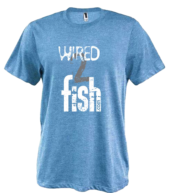 Wired2Fish Stacked Logo Heathered Tee (various colors available!)