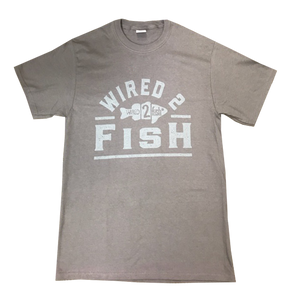 Wired2Fish Tone on Tone Logo T-shirt - Charcoal