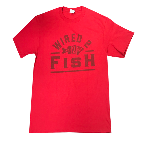 Wired2Fish Tone on Tone Logo T-shirt - Red